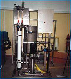 Demineralized water pilot plant