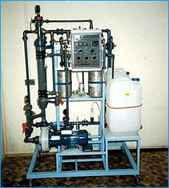 Demi water lab system